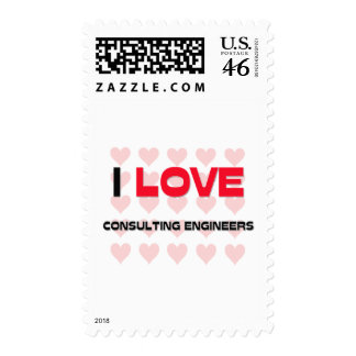 I LOVE CONSULTING ENGINEERS POSTAGE STAMP