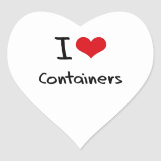 I love Containers Stickers