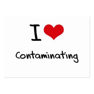 I love Contaminating Business Card