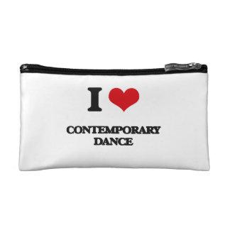 I Love Contemporary Dance Makeup Bags