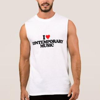 I LOVE CONTEMPORARY MUSIC SLEEVELESS SHIRT