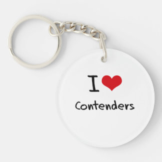 I love Contenders Double-Sided Round Acrylic Keychain