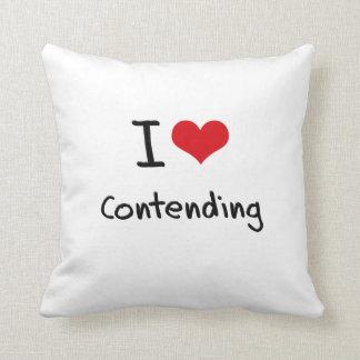 I love Contending Throw Pillow