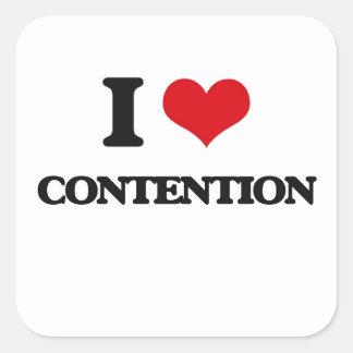 I Love Contention Square Sticker