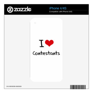 I love Contestants Decal For iPhone 4