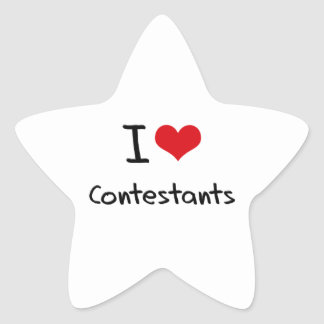 I love Contestants Stickers