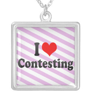I love Contesting Personalized Necklace