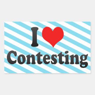 I love Contesting Sticker