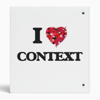 I love Context 3 Ring Binders