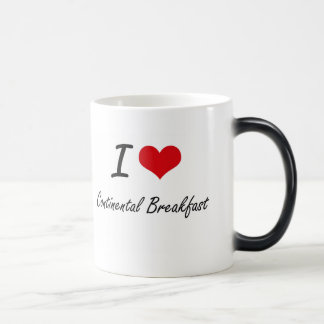 I love Continental Breakfast Artistic Design 11 Oz Magic Heat Color-Changing Coffee Mug