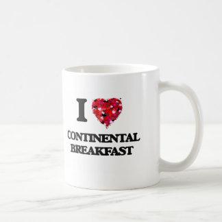 I love Continental Breakfast Classic White Coffee Mug