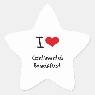 I love Continental Breakfast Star Sticker