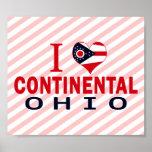 I love Continental, Ohio Poster