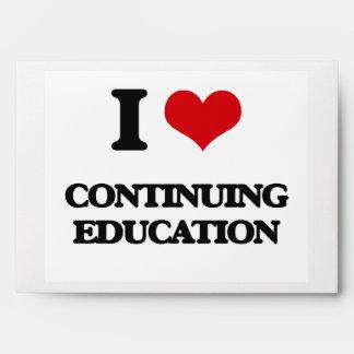 I love Continuing Education Envelope