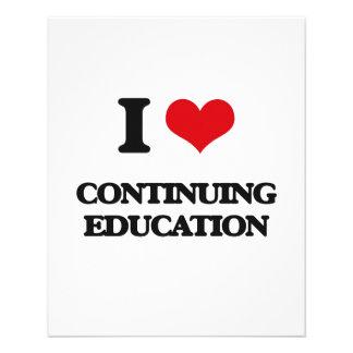 I love Continuing Education Flyer Design