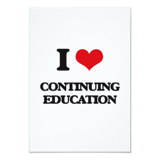 I love Continuing Education Customized Announcement Cards
