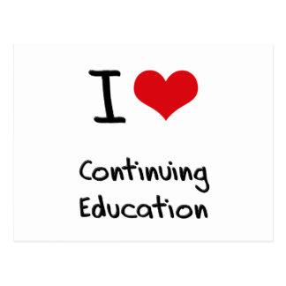 I love Continuing Education Postcard