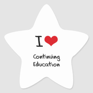I love Continuing Education Star Sticker