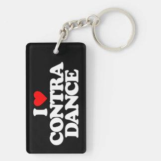 I LOVE CONTRA DANCE KEYCHAIN