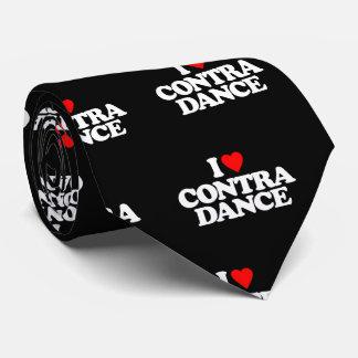 I LOVE CONTRA DANCE NECK TIE