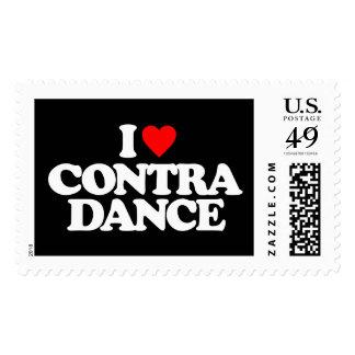I LOVE CONTRA DANCE POSTAGE