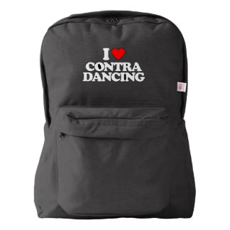 I LOVE CONTRA DANCING AMERICAN APPAREL™ BACKPACK
