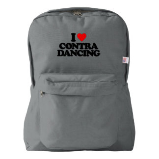 I LOVE CONTRA DANCING BACKPACK