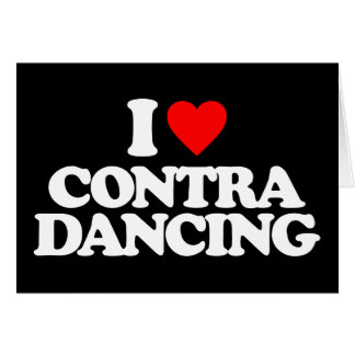I LOVE CONTRA DANCING CARD