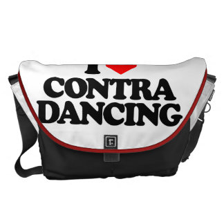 I LOVE CONTRA DANCING COURIER BAG