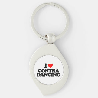 I LOVE CONTRA DANCING KEYCHAIN