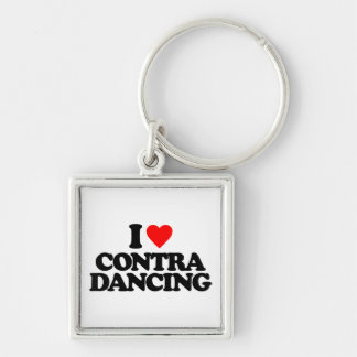 I LOVE CONTRA DANCING KEYCHAIN