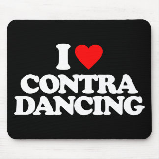 I LOVE CONTRA DANCING MOUSE PAD
