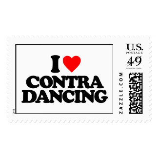 I LOVE CONTRA DANCING POSTAGE