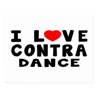 I Love Contra Dancing Postcard