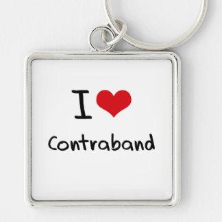 I love Contraband Key Chain