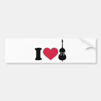 I love Contrabass Bumper Sticker
