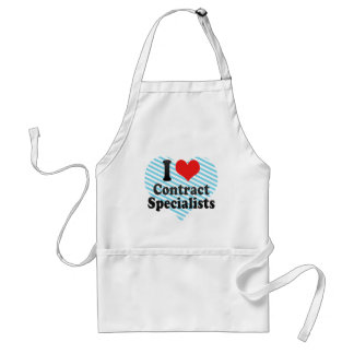 I Love Contract Specialists Aprons