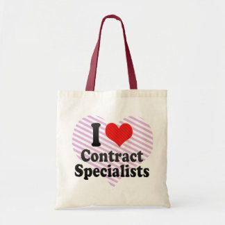 I Love Contract Specialists Tote Bags
