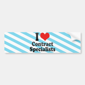 I Love Contract Specialists Bumper Stickers