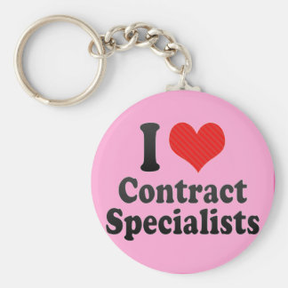 I Love Contract Specialists Keychain