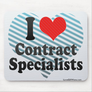 I Love Contract Specialists Mouse Pads