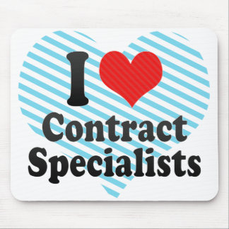 I Love Contract Specialists Mousepad