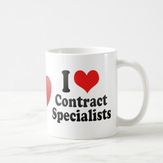 I Love Contract Specialists Mugs