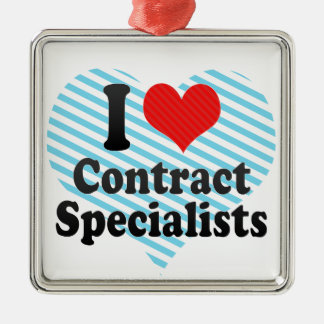 I Love Contract Specialists Ornament