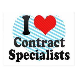 I Love Contract Specialists Postcard