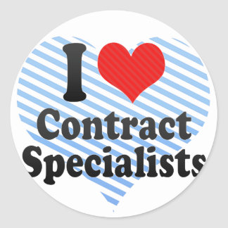 I Love Contract Specialists Stickers
