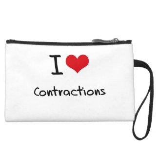 I love Contractions Wristlet Purses