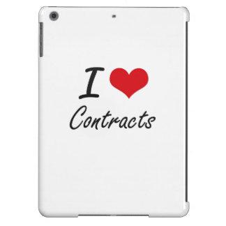 I love Contracts Artistic Design iPad Air Cover