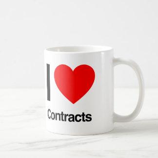 i love contracts coffee mug