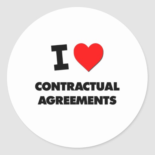 I love Contractual Agreements Classic Round Sticker